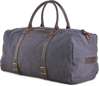 Gootium Canvas Duffle Bag - Travel Duffel Luggage Overnight Holdall Weekend Bag, 40L, Darkish Blue