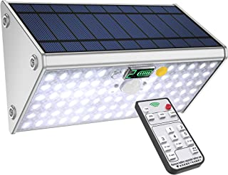 SLARR Premium Aluminum Solar Lights Outdoor Security Flood Light with Motion Sensor, 20000 mAh Battery, 76 LED 1700 Lumen White Light, Remote Control, 6 Modes, Easy Install (Fixed or Portable)