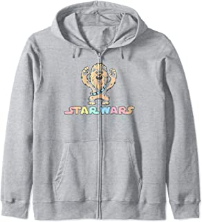 Star Wars Chewbacca Water Color Portrait Logo Zip Hoodie