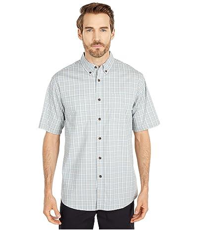 Dickies Relaxed Fit Flex Short Sleeve Plaid Shirt (Quail Grey/Dusty Blue Plaid) Men
