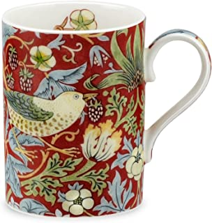 Royal Worcester Strawberry Thief - Crimson Slate Gift Boxed Mug