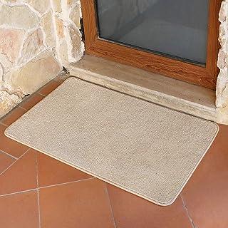 فرش ورودی در فضای باز درب منگنه پلی استر ضد لغزش ITSOFT برای درب جلو فوق العاده جاذب ، قابل شستشو در ماشین ، 30 x 18 اینچ بژ