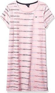 Girls' Short Sleeve T-Shirt Dress, 100% Cotton, Crewneck...
