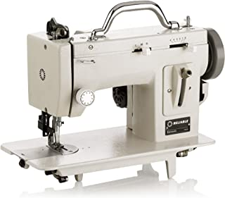 Reliable Barracuda 200ZW Zig-Zag Sewing Machine, 800 Stitches Per Minute, Heavy- Duty Metal Construction, Up to 4 Stitches Per Inch, Built in Speed Reducer, Reverse Lever Mechanism