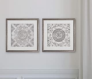 WEXFORD HOME Mandala Sunburst -2 Piece Set Art Print, 16x16,