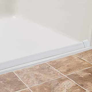 Lifeline Collapsible Water Dam - Shower Threshold | K-Dam Curbless Barrier | 90 Degree End Caps | 72 Inch