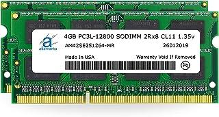 ذاكرة لابتوب Adamanta 8GB (2x4GB) DDR3/DDR3L 1600Mhz PC3L-12800 SODIMM 2Rx8 CL11 1.35v RAM