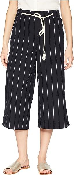 Skinny Stripe Side Slit Culotte