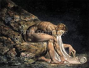 BLAKE WILLIAM ISAAC NEWTON ARTIST PAINTING HANDMADE OIL CANVAS REPRO ART DECO 18x24inch