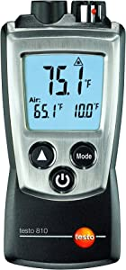 testo 810 channel Infrared Thermometer  with TopSafe case