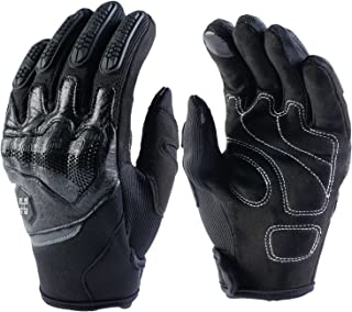 Motorcycle Gloves Riding Touch Screen Leather for Men Ladies