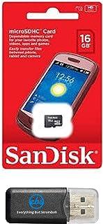 16GB SanDisk MicroSD HC Memory Card 16G (16 Gigabyte) works with Motorola Moto E Moto G LTE Nokia Lumia Icon X X+ XL Lumia 930 635 630 530 X2 with Everything But Stromboli USB Memory Card Reader