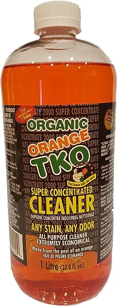 Organic Orange TKO Super Concentrated 34oz All Purpose Citrus Cleaner Degreaser Deodorizer Stain Remover Pet Safe Non Toxic Eco Friendly