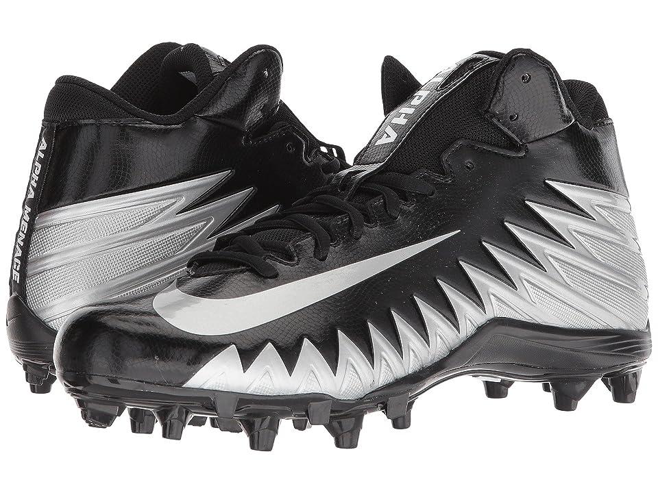 Nike Alpha Menace Varsity Mid (Black/Metallic Silver/White) Men