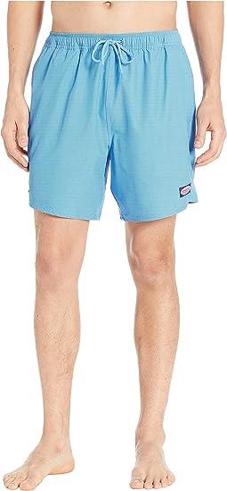 Fine Line Stripe Chappy Swim Shorts
