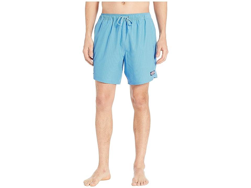 Vineyard Vines Fine Line Stripe Chappy Swim Shorts (Hull Blue) Men