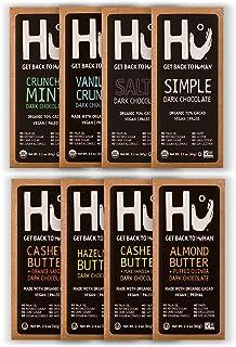 Hu Chocolate Bars   8 Pack VARIETY SAMPLER PACK   Natural Organic Vegan, Gluten Free, Paleo, Non GMO, Fair Trade Dark Chocolate   2.1oz Each