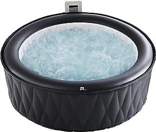 MSPA Mont Blanc - Jacuzzi inflable portátil, 930 litros, jacuzzi para 6 personas, jardín al aire libre, autoinflado, sin n...