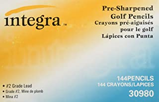 Integra Golf Pencil, 3-1/2-Inch Pre Sharpened, 144/Box, Yellow (ITA30980)