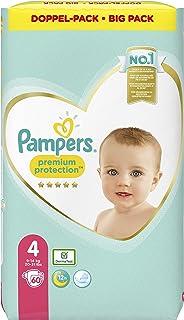 Pampers Maat 4 Luiers (9-14 kg), Premium Protection, 60 Stuks, Onze N°1 Voor Comfort En Bescherming Van De Gevoelige Huid