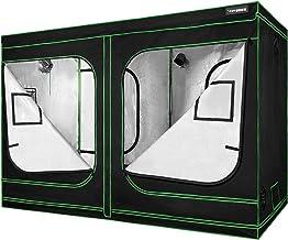 "VIVOSUN 96""x48""x80"" Mylar Hydroponic Grow Tent with Observation Window and.."