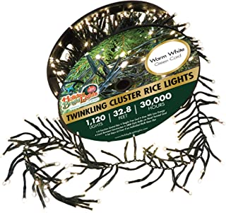 Holiday Bright Lights Christmas 1120L Twinkling Cluster Rice Light Reel - Warm White