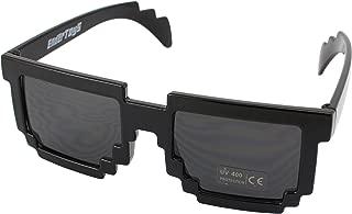 Pixel Kids Sunglasses - Novelty Retro Gamer Geek Glasses for Boys and Girls Ages 6+ by EnderToys