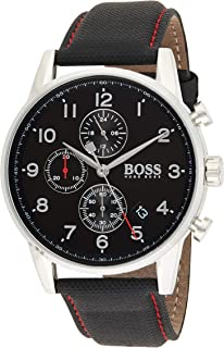 Hugo Boss Mens Quartz Watch, Chronograph Display and Textile Strap 1513535