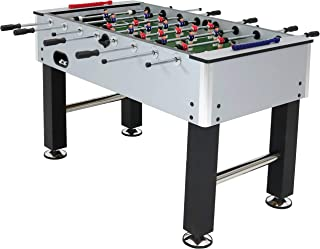 Sunnydaze Metallic Foosball Table, Sports Arcade Soccer for Game Room - 55-Inch