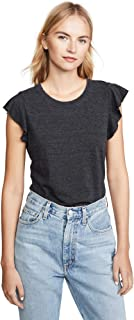 Women's Flutter Sleeve Crew Neck Tee