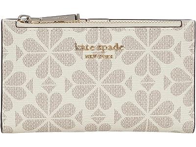 Kate Spade New York Spade Flower Canvas Small Slim Bifold Wallet