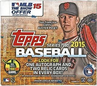 2015 Topps Series 2 Baseball Cards Jumbo Hobby Box (10 packs/box, 1 autograph & 2 relics) - Kris Bryant Rookie Cards !