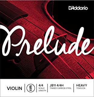 (4/4 Scale, Heavy Tension) - D'Addario Prelude Violin Single E String, 4/4 Scale, Heavy Tension