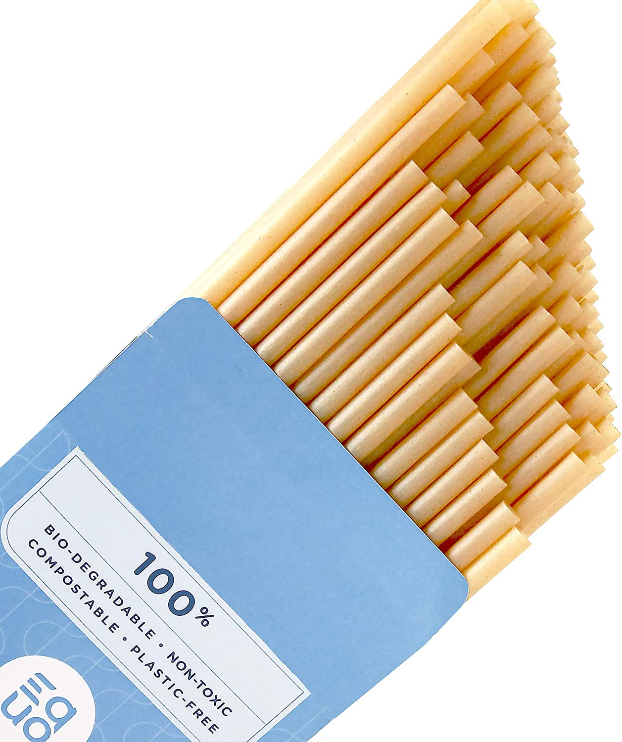 EQUO Overseas parallel import regular item Sugarcane Drinking Straws Compostable Biodegradable and Complete Free Shipping