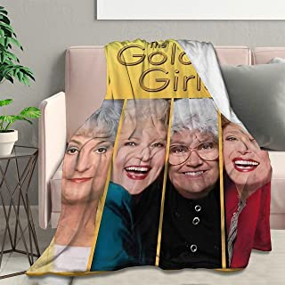 "Ultra Soft Flannel Fleece Blanket The Golden Girls Stylish Bedroom Living Room Sofa Warm Blanket 60""x50""Medium for Teens"