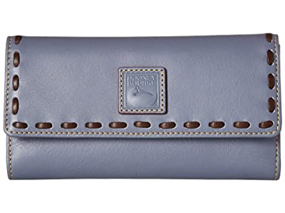 Dooney & Bourke Florentine Checkbook Organizer (Steel Blue/Steel Blue Trim) Checkbook Wallet