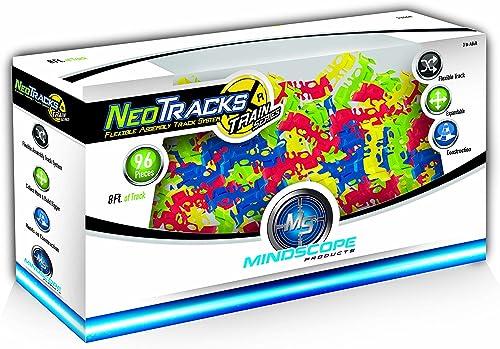 ventas calientes Mindscope Neo Tracks Train 96 Piece Piece Piece (8 feet) Train Track Add On Twister Tracks by Mindscope  bajo precio