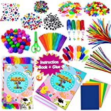 GoodyKing Assorted Arts and Crafts Supplies for Kids- D.I.Y. Collage School Crafting Materials Supply Set Pipe Cleaner- Cr...