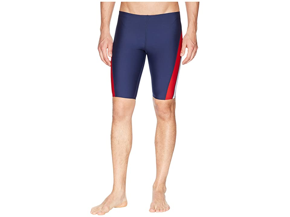 Speedo Launch Splice Jammer (Navy/Red/White) Men