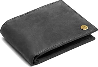 WildHorn® RFID Protected Genuine High Quality Leather Wallet for Men (Grey Hunter)