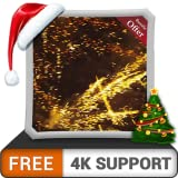 無料の深夜花火HD-HDR 4Kテレビ、8Kテレビの美しい景色で部屋を飾り、壁紙、クリスマス休暇の装飾、装飾とお祝いのテーマ
