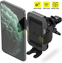 ZeeHoo Automatic Car Phone Mount,Electric Powered Auto Clamping Air Vent Car Phone Holder,Compatible iPhone 11/11 Pro Max/X/XS Max/XR/8/7/6,Galaxy S10/S10+/S9/S9+/S8,Google Nexus,LG (Battery Powered)