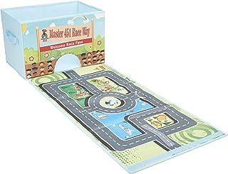 2-in-1 Car Race Track Play Mat & Storage Box Organizer Kids Portable Play Mat