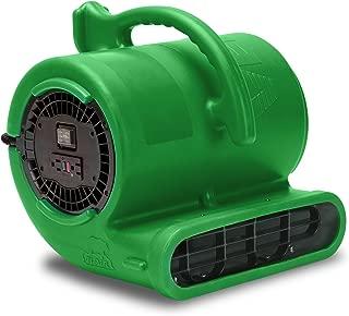 B-Air VENT VP-33 1/3 HP 2530 CFM Air Mover Carpet Dryer Floor Fan for Plumbing Janitorial Water Damage Restoration Green