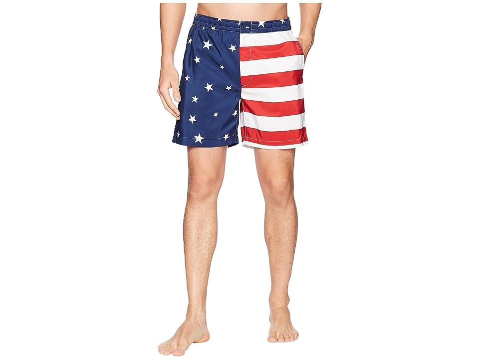 Polo Ralph Lauren Flag Prepster Swim Trunk (Americana Flag) Men