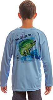 Saltwater Fish Dorado Youth UPF 50+ UV Sun Protection Performance Long Sleeve T-Shirt