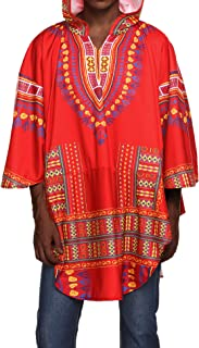 COOFANDY Men's African Poncho Dashiki Oversized Hooded Cloak Irregular Coat Drape Cape