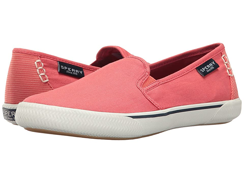 Sperry Quest Cay Canvas (Coral) Women