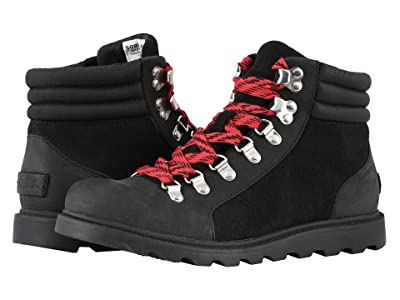SOREL Ainsley Conquest (Black Full Grain Leather) Women