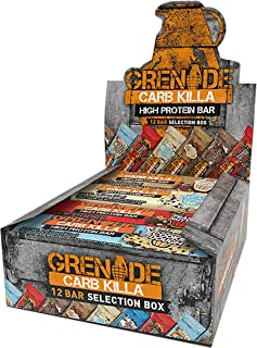 Grenade Carb Killa Protein Bar   20g-23g High Protein Snack   Keto Friendly Low Net Carb Low Sugar   Energy Bars   Variety Pack, 12 Pack